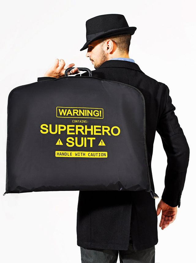 Super Suit Carrier, A Garment Bag For Superheroes on the Go
