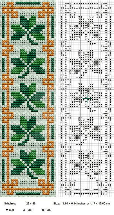 Here's a little St Patrick's Day bookmark for you. Wanted to do a more elaborate border but it wouldn't work at that size so - there you go. My original design, copyright me 2013. For personal use ...