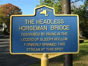 Headless Horseman Bridge Sign ~ Sleepy Hollow ~ New York