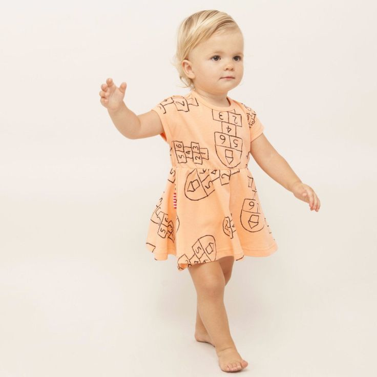 SOOKIbaby Hopscotch Drop Sleeve Fit and Flare Dress