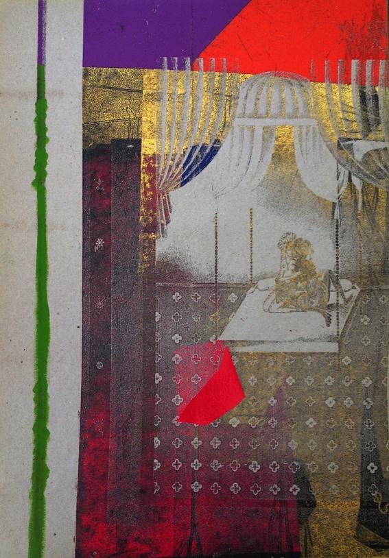 Lovers. Carbon copy of Kay Nielsen 1001 nights, omnicromed by Marina Winkel
