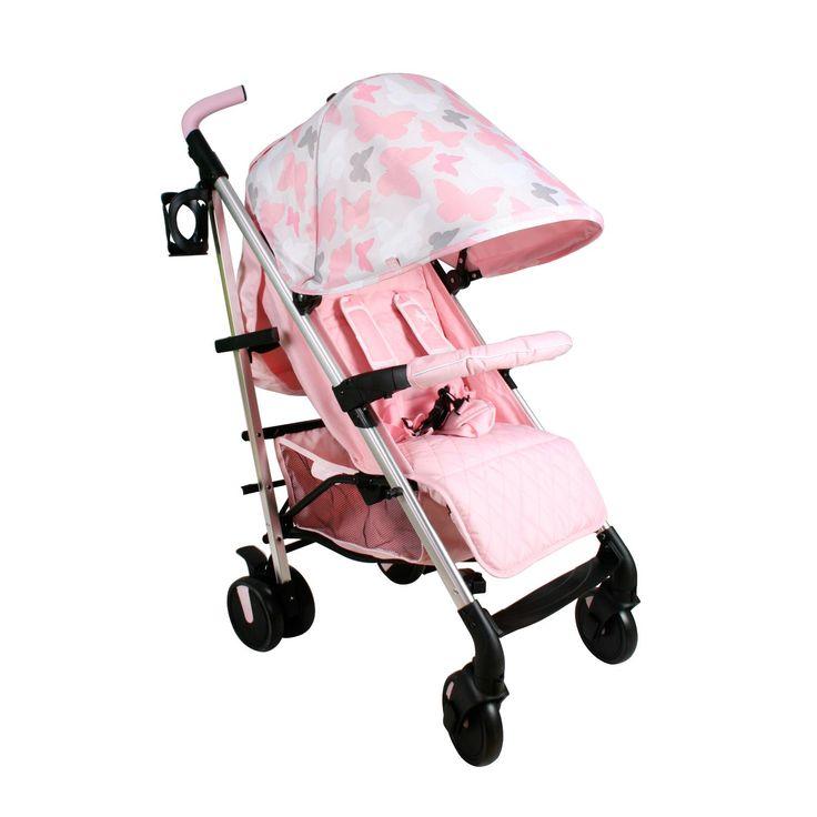 My Babiie Katie Piper MB51 Stroller Pink Butterflies Kiddicare.com