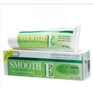 Smooth E Cream Anti-aging Wrinkle Fade Acne Scars Spots 40g. by Consumer products in Thailand. $7.01. Highly recommended product by dermatologists. Reduce wrinkles & dark spots. Very popular & top selling brand in thailand. 40 grams. Reducer for scars, spots & fine line. Smoot E Cream - Reduces Scars, Spots and Fine Lines  No. 1 Best Selling scar and fine line reducing cream in drug stores, personal health care chains, super/hyper markets in Thailand. Highly recommended by der...