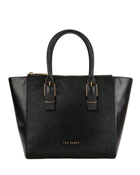 MEGEN | Large zip shopper - Black | Bags | Ted Baker