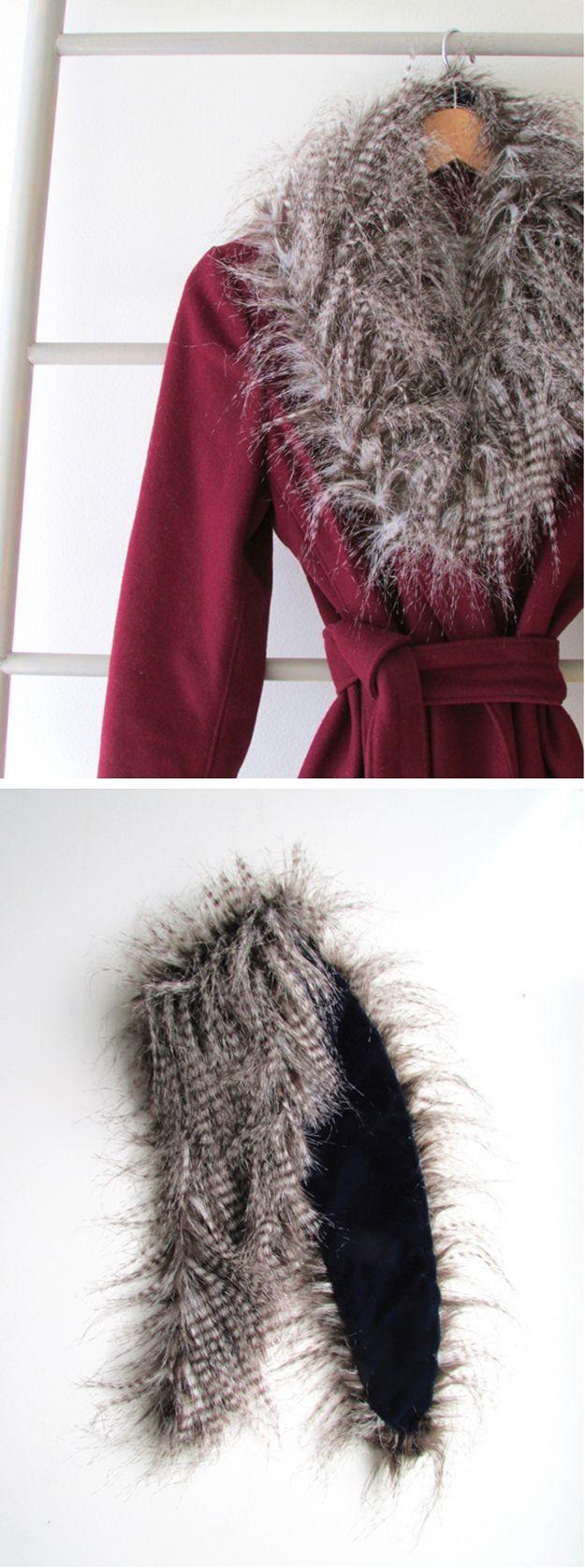 Velvet-Lined Faux Fur Collar by DIY Ready at http://diyready.com/diy-hacks-make-clothing-last-longer/