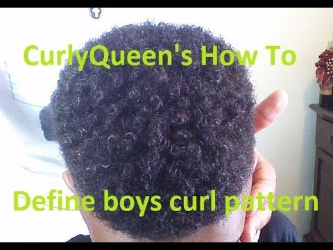 (7) How to define boys natural curl pattern - YouTube
