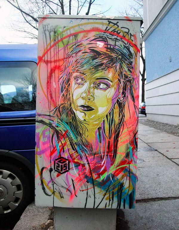 New Stencil Works by Street Artist C215