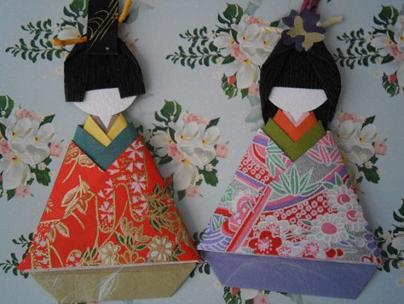 Japanese Origami Doll Ohinasama/Girl's day by Chomelle on Etsy, $10.00