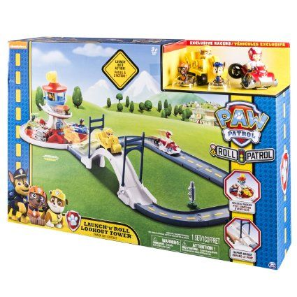 Amazon.com: Paw Patrol - Launch N Roll Lookout Tower Track Set: Toys & Games