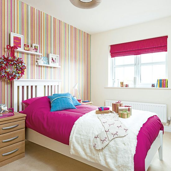 25 best ideas about striped wallpaper on pinterest for Striped wallpaper bedroom designs
