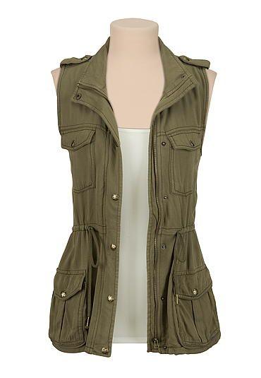 Cinched waist 4 pocket vest