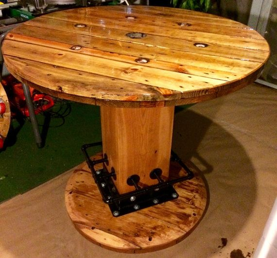 Wire Spool Wine Table By Thehollowfurnitureco On Etsy