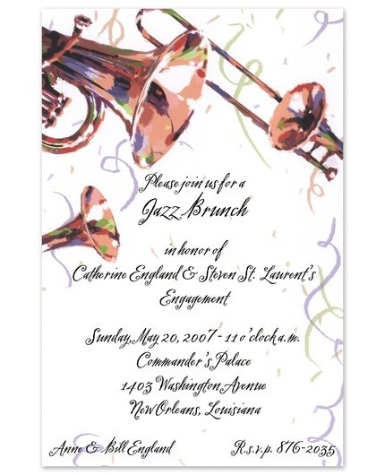 Jazz Fest Invitations Four Seasons Fs Mardi Gras