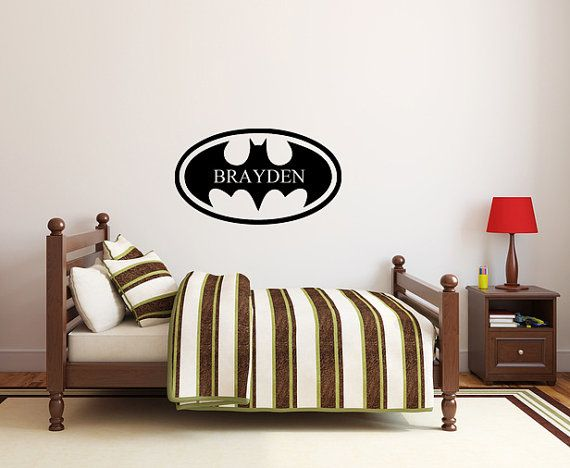 Kids Room Batman FREE SHIPPING Customize Decal by ItsWallTalkVinyl, $18.00