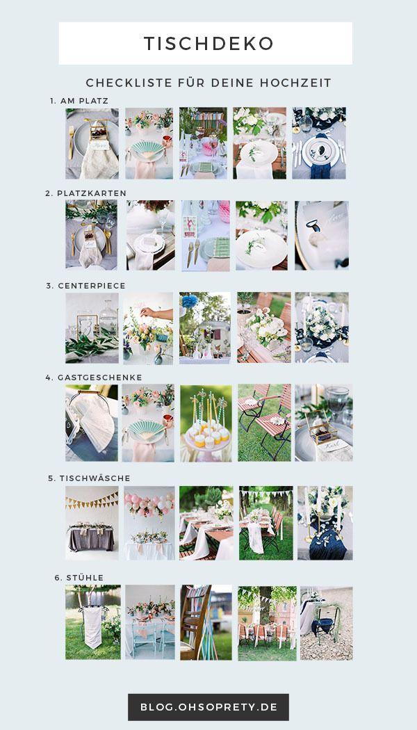 Wie plane ich meine Tischdeko? - Unsere Checkliste! http://blog.ohsopretty.de/wie-man-die-passende-tischdeko-findet-checkliste/