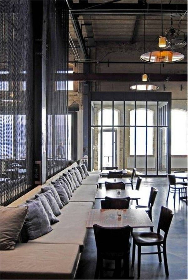 43 best images about industrial style bars on pinterest for Restaurant interior design inspiration