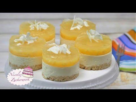 NO BAKE Ananas-Kokos-Törtchen | sommerliche Torte von Nicoles Zuckerwerk