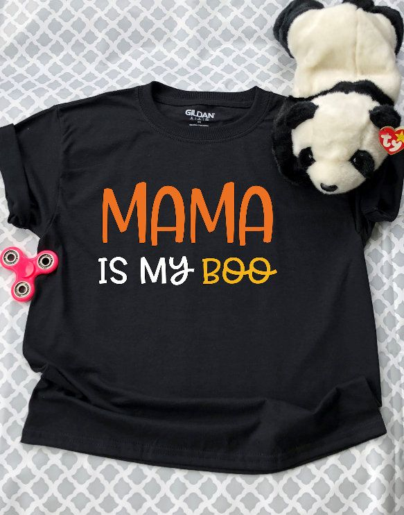 Mama is my BOO KidsToddlerBaby Halloween shirt