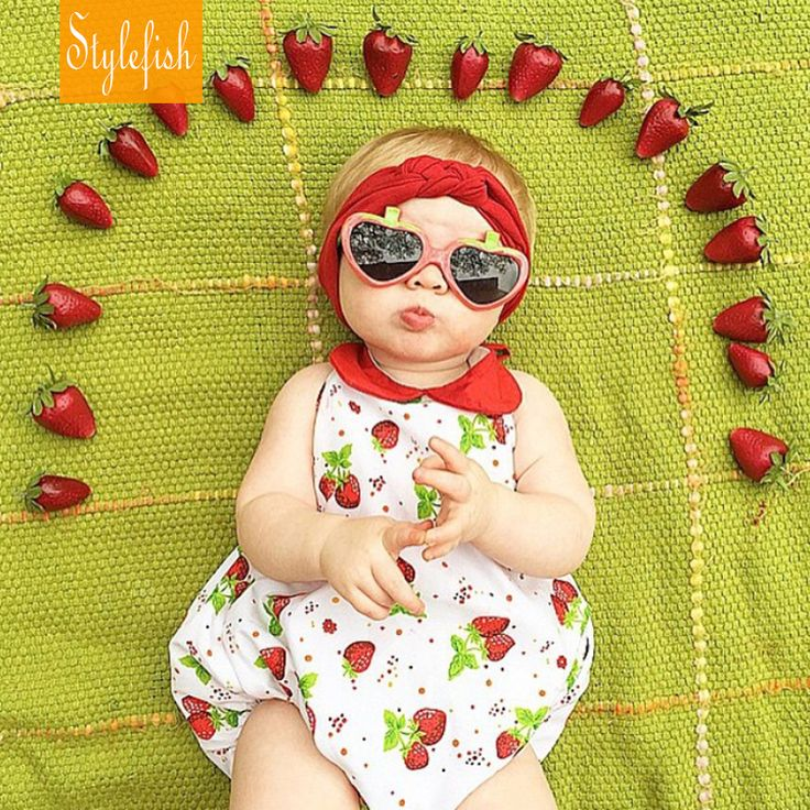 Aliexpress.com : Buy 2016 New Female Baby Casual Romper Summer Cotton Strawberry Pattern Sleeveless Sling Triangle Climbing Clothes Hot Sale from Reliable clothes chart suppliers on STYLE FISH KIDS