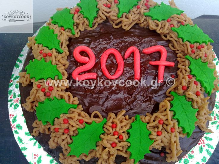 NEW YEARS CHOCOLATE CAKE WITH CHESTNUT POUREE