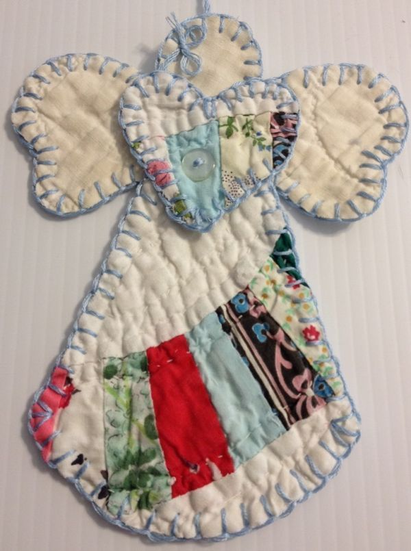 CUTTER QUILT ANGEL COTTAGE CHIC CHRISTMAS/DECORATION/TAG (CQA-352)