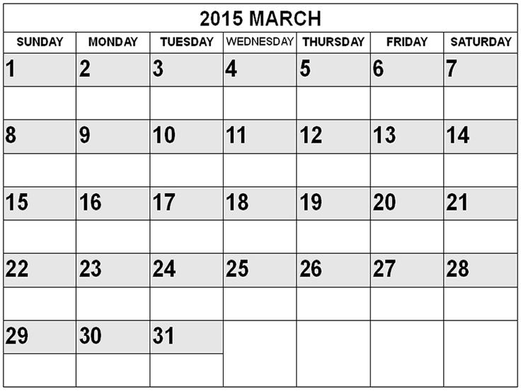 24 best March 2015 Calendar images on Pinterest 2015 calendar - vacation calendar template