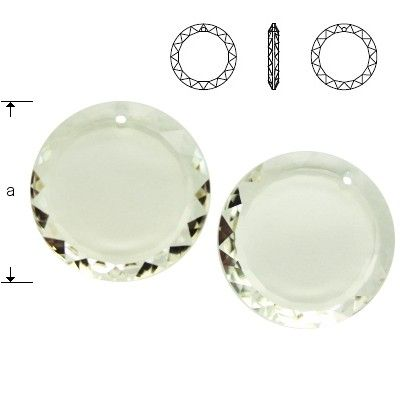 6049 Round Disc 20mm Crystal  Dimensions: 20,0 mm Colour: Crystal 1 package = 1 piece