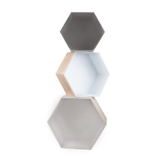 General Eclectic - Hexagon Box Set of 3 - Grey - The Furniture Store