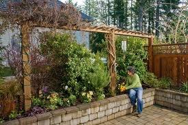 narrow garden -- create patio privacy?