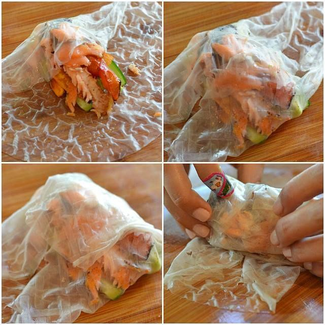 Thai Rice Paper Wraps and an incredible Dipping Sauce...... http://kitchen-tested.com/2013/07/29/healthy-thai-recipes-with-chef-zissie/