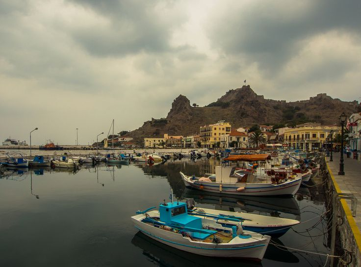 Myrina  Harbour in Lemnos