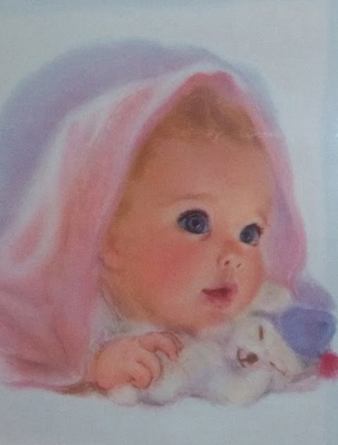 Northern Girls- illustrated by Frances Hook late 1950s - Baby pink