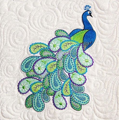 Mylar Paisley Peacock [mpp01] - $49.99 : Quilter's Apprentice , Let's Get Creative!