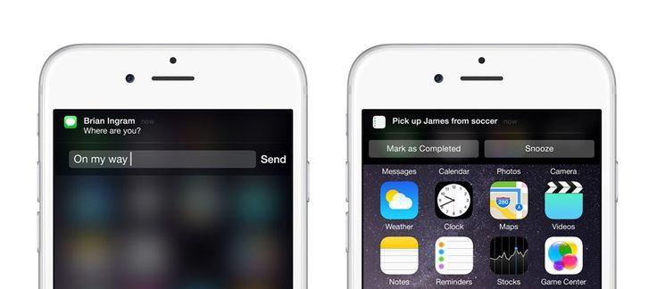 Here's how to use interactive notifications in iOS 8. :)