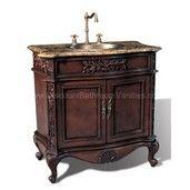 York 36 inch Antique Single Sink Bathroom Vanity P5405-03A