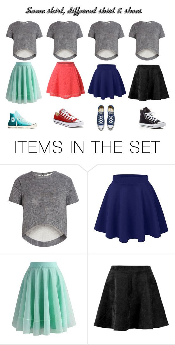 """Same shirt, different skirt & shoes"" by julliettemargarine on Polyvore featuring kunst"