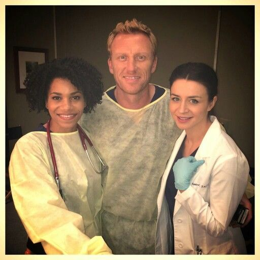 Dr. Maggie Pierce, Dr. Owen Hunt, Dr. Amelia Shepherd. Grey's Anatomy