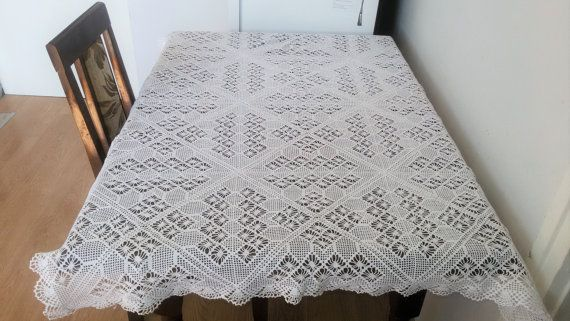 Kitchen Tablecloth, Table cover, Rectangular crochet table topper, hand crochet table cover,100% handmade table cover,special gift, doily