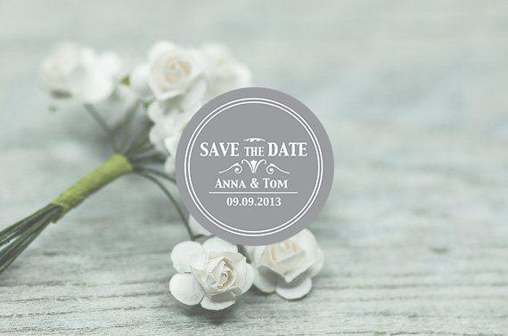 10 persönliche Aufkleber Hochzeit Sticker invite  von Lottes Laden auf DaWanda.com
