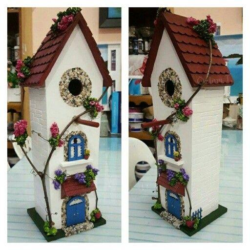 By Ozlem.T Bird house. .Rölyef kuş evi..