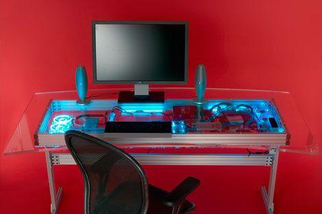 kW, Liquid-Cooled Desk | Desks, Computers and Popular Mechanics