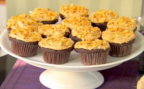 Chocolate Cupcakes and Peanut Butter Icing by Ina Garten (Peanut Butter) @FoodNetwork_UK