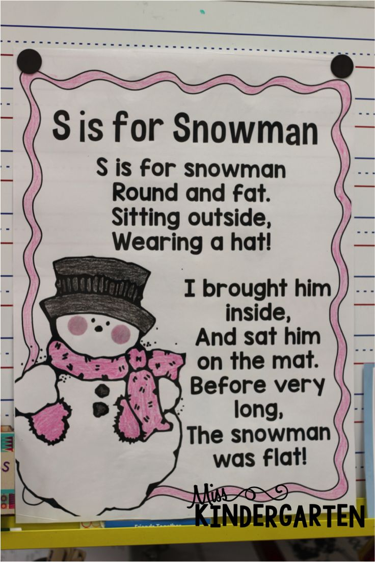 S is for Snowman!