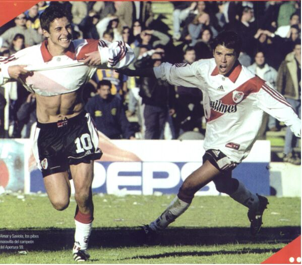 Pablo Aimar + Javier Saviola. River Plate.