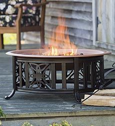 This pretty Celtic-inspired fire pit comes with everything you need for beautiful fireside nights.