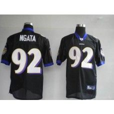 Ravens #92 Haloti Ngata Black Stitched NFL Jersey