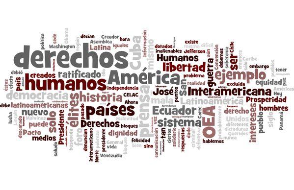 TagCloud Discurso de Rafael Correa (Presidente de Ecuador) en la VII Cumbre de las Américas (Panamá,2015)  Enlace permanente de imagen incrustada