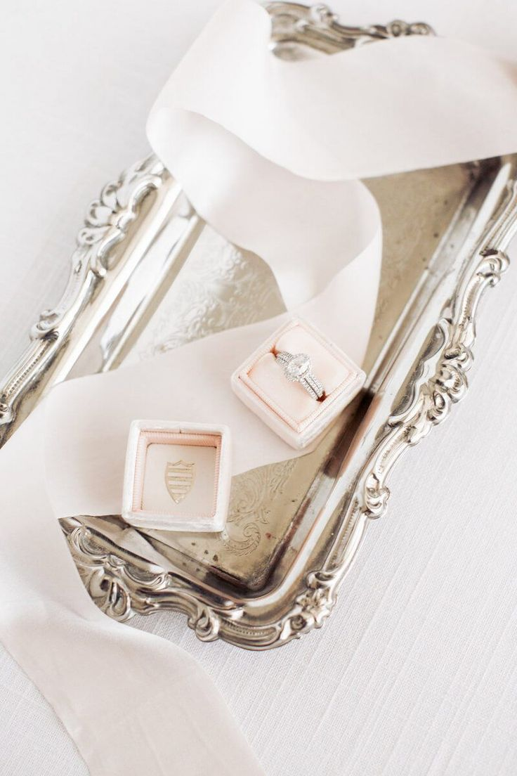 Rose gold Engagement ring Box
