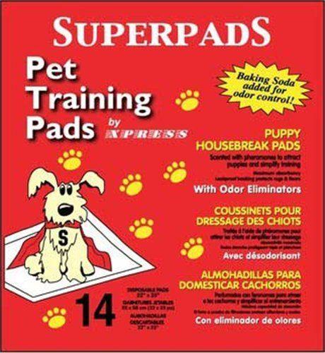 Superpads Original 22 x 23-Inch Pet Training Pads (14-Pack) -- For more information, visit image link.