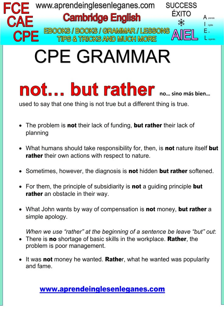 English idioms & Phrases Not...but rather ... CAE CPE FCE Key word transformation gramática inglesa english grammar Key word transformation